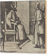 The Envoy Of Tuscany Thanking The Queen [verso] Wood Print