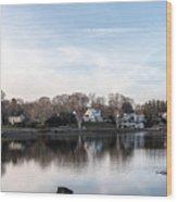 The Essex Connecticut Cove Wood Print