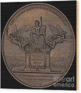 The Establishment Of The French Railway System: The Law Of 11 June 1842 [reverse] Wood Print