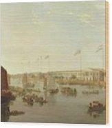 The European Factories - Canton Wood Print