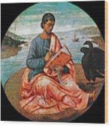 The Evangelist John At Patmos Wood Print