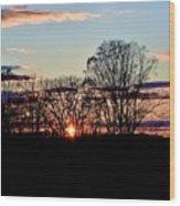 The Evening Sky Wood Print
