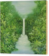 The Everlasting Rain Forest Wood Print