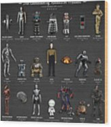 The Evolution Of Robots In Movies Wood Print