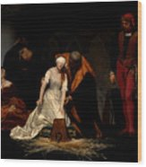 The Execution Of Lady Jane Grey In The Tower Of London In The Year 1554 Wood Print
