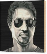 The Expendables Barney Ross Wood Print
