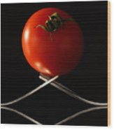 The Exposed Tomato Wood Print