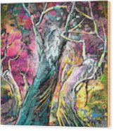 The Expulsion From Paradise Wood Print