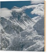 The Extreme Terrain Of Mount Everest Wood Print