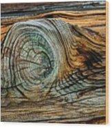 The Eye In The Wood Wood Print