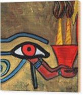 The Eye Of Horus Wood Print