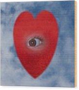 The Eye Of The Heart Wood Print
