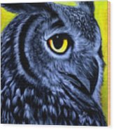 The Eye Of The Owl -the  Goobe Series Wood Print