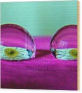 The Eye Of The Petal II Wood Print