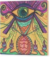 The Eye Opens... To A New Day Wood Print by Daina White
