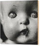The Eyes Wood Print