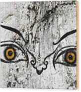 The Eyes Of Guru Rimpoche  Wood Print by Fabrizio Troiani