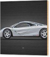 The F1 Supercar Wood Print