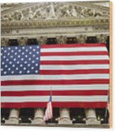 The Facade Of The New York Stock Wood Print