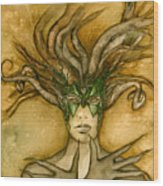 The Face Of Dryad Wood Print