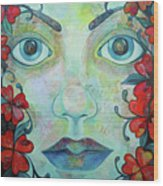 The Face Of Persephone I Wood Print