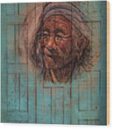 The Face Of Wisdom Wood Print