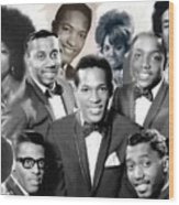 The Faces Of Motown Wood Print