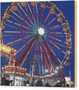 The Fair At Night Wood Print