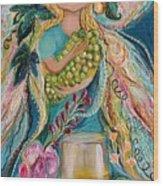 The Fairies Of Wine Series - Chardonnay Wood Print