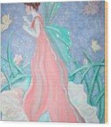 The Fairy Greeting Wood Print