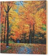The Fall At Best Wood Print