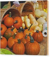 The Fall Harvest Is In Kendall Square Farmers Market Wood Print