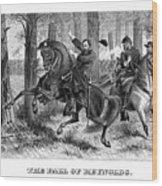 The Fall Of Reynolds - Civil War Wood Print