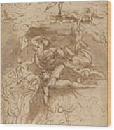 The Fall Of The Rebel Angels [recto] Wood Print
