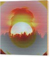 The Falling Sun  Wood Print