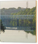 The Falls And Roosevelt Expressway Bridges - Philadelphia Wood Print