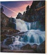 The Falls At Flatrock Wood Print