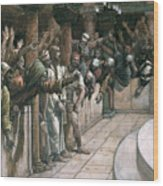 The False Witness Wood Print by Tissot