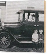 The Family Car Wood Print