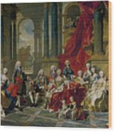 The Family Of Philip V Wood Print