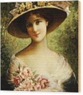 The Fancy Bonnet Wood Print by Emile Vernon
