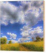 The Farm Art Vista Wood Print