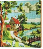 The Farm House Wood Print