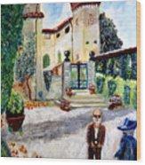 The Farm In Montelopio -pisa Wood Print