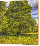 The Farm Tree Art Wood Print