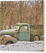 The Farm Truck Wood Print