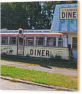 The Farmers Diner Wood Print