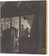 The Farrier's Shop Wood Print