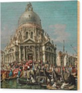 The Feast Of The Madonna Della Salute In Venice Wood Print