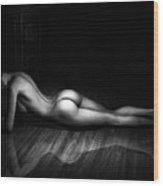 The Female Form Bw Wood Print